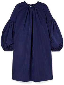Calvin Klein Gathered Taffeta Dress - Navy