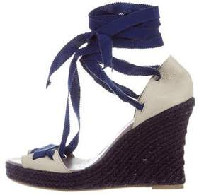 Sonia Rykiel Leather Espadrille Wedges
