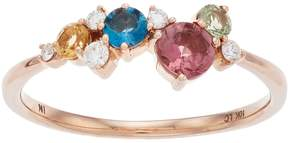 Lauren Conrad 10k Rose Gold Gemstone & Diamond Accent Ring