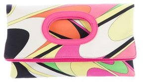 Emilio Pucci Printed Fold-Over Clutch