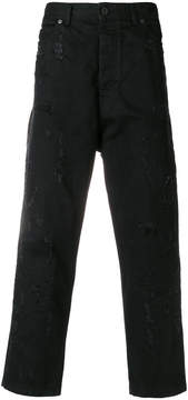 Diesel Black Gold wide cropped trousers