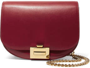 Victoria Beckham Box Chain Leather Shoulder Bag - Red