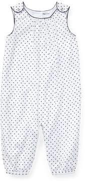Ralph Lauren | Polka-Dot Cotton Coverall | 3-6 months | Black