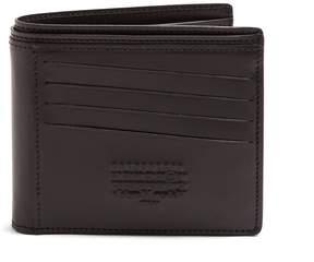 Maison Margiela Logo-embossed leather bi-fold wallet