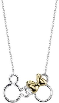 Disney Two-Tone 10K Gold and Sterling Silver Mouse Necklace