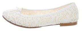 Repetto Lace Round-Toe Flats