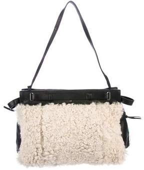 Jerome Dreyfuss Carlos Fur & Leather Tote