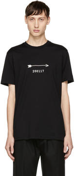 Givenchy Black Arrow and Show Date T-Shirt