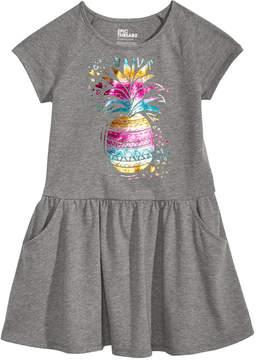 Epic Threads Little Girls Pineapple-Print Drop-Waist Dress, Created for Macy's
