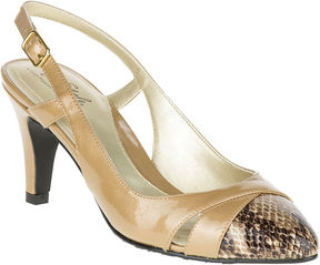 Hush Puppies Soft Style by Rielle Leather Slingback Pumps