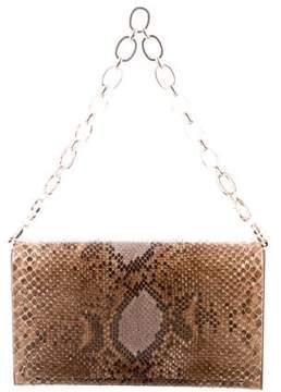 Judith Leiber Snakeskin Shoulder Bag