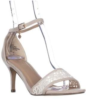 Nanette Lepore Beauty Ankle Strap Sandals, Ivory.