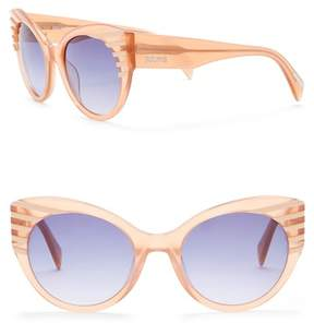 Just Cavalli Modified Cat Eye 55mm Plastic Sunglasses