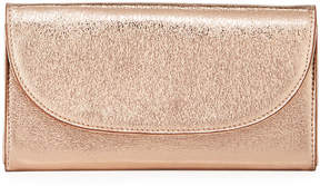 Neiman Marcus Metallic Faux-Leather Wallet on Chain Strap