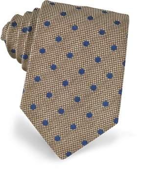 Forzieri Polkadots Woven Silk Tie