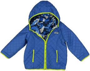 Weatherproof Blue & Gray Camo Reversible Jacket - Toddler