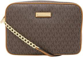 Michael Kors Women's Large Jet Set East West Crossbody Bag Leather Cross Body - Brown - BROWN - STYLE