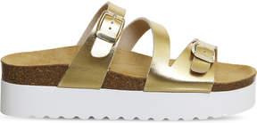 Office Mounty footbed flatform sandals