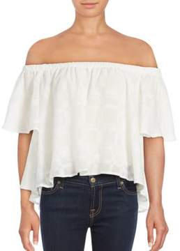 Finders Keepers Better Days Ruffled Off-The-Shoulder Top