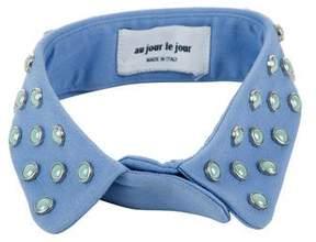 Au Jour Le Jour Pale Blue Embellished Collar