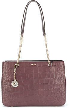 DKNY Croc embossed shopper