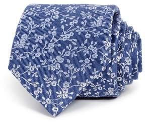 Bloomingdale's The Men's Store at Floral Skinny Tie - 100% Exclusive