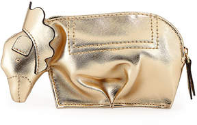 Neiman Marcus Lion Zip-Top Critter Pouch