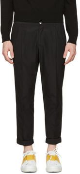 Dolce & Gabbana Black Pleated Trousers