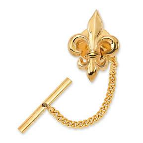 Asstd National Brand Fleur de Lis Tie Tack