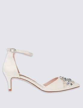 Marks and Spencer Kitten Satin Court Shoes