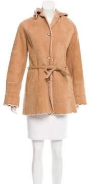 Escada Shearling Short Coat