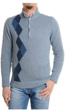 H953 Men's Blue Cotton Sweater.