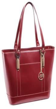 McKlein McKleinUSA ARYA, Ladies' Tote with Tablet Pocket, Top Grain Cowhide Leather, Red (97716)