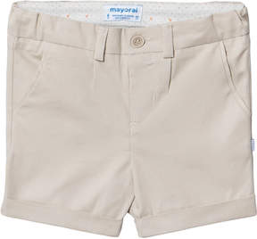 Mayoral Beige Smart Textured Shorts