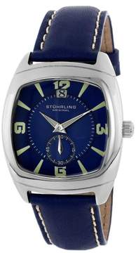 Stuhrling Original Princeton II 116A.3315C6 Stainless Steel & Leather 39mm x 42mm Watch