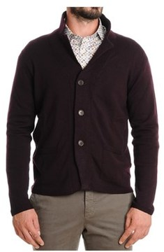Altea Men's Red Wool Cardigan.