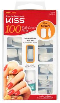 Kiss 100 Full Cover Nails Short Length, Square