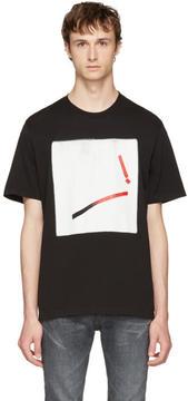 Maison Margiela Black Loose Graphic T-Shirt