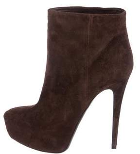Ballin Classic Suede Platform Ankle Boots w/ Tags