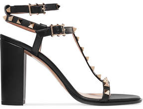 Valentino Rockstud Leather Sandals - Black