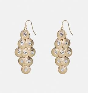 Avenue Gold Circle Chandelier Earrings