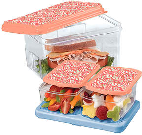 Fit & Fresh Coral Rings Lunch-on-the-Go Container Set