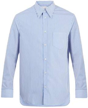 Maison Margiela Point-collar striped cotton shirt