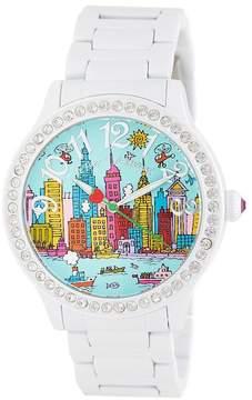 Betsey Johnson Women's City Views Bracelet Watch