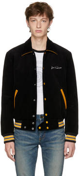 Saint Laurent Black Je Taime Teddy Jacket