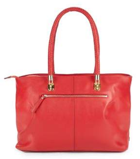 Top-Handle Leather Tote