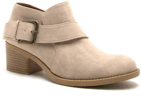 Qupid Stone Buckle-Accent Philly Bootie - Women
