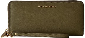 MICHAEL Michael Kors Jet Set Travel Travel Continental Clutch Handbags - BRIGHT RED - STYLE