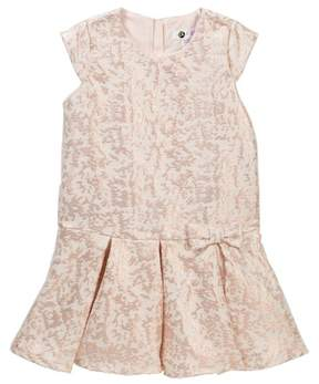 Petit Lem Metallic Woven Dress (Toddler & Little Girls)