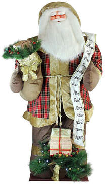 Asstd National Brand 8' Inflatable Musical Santa Claus Figurine with LED Lighted Gift Bag